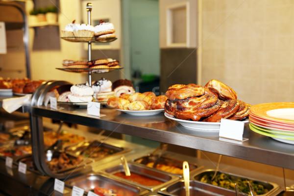 Pult kávézó kereskedelmi konyha szett különböző Stock fotó © cosma