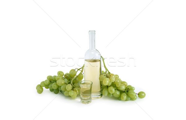 Olasz szőlő vodka nyitva üveg üveg Stock fotó © cosma