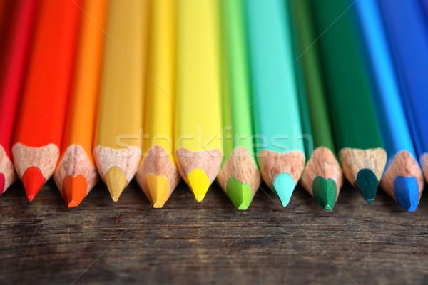Crayons On Wood Stock photo © cosma