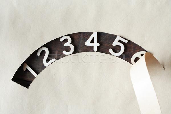 Dígitos establecer agujero papel Foto stock © cosma