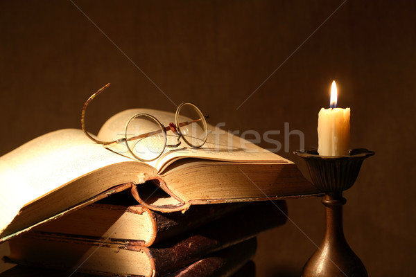Books And Candle Stock photo © cosma