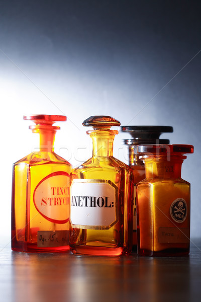Vieux pharmaceutique verre fond science Photo stock © cosma