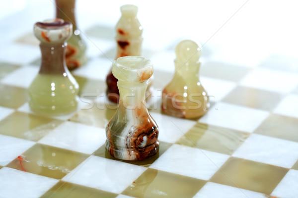 Chess Game On White Stock photo © cosma