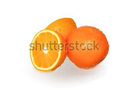 Az portakal su damlası beyaz pişirme Stok fotoğraf © cosma