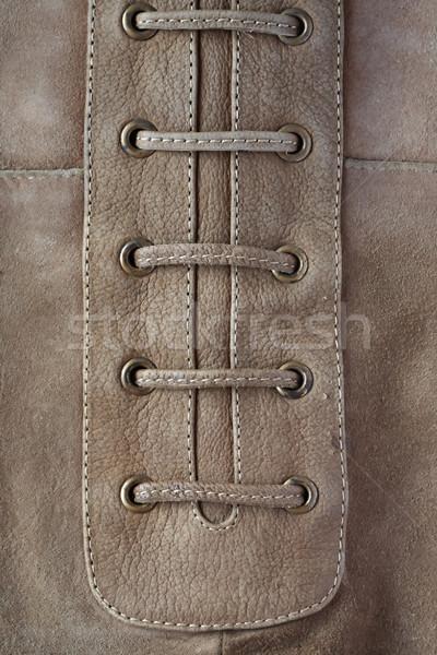 Bőr közelkép szürke divat szövet ruházat Stock fotó © cosma