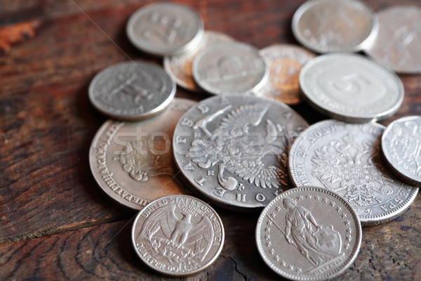 Stock photo: Coins Background