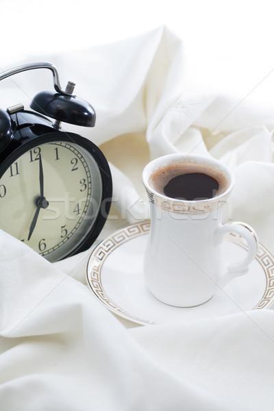 Sveglia caffè risveglio Cup bianco foglio Foto d'archivio © cosma