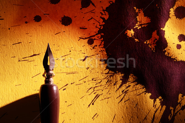 Kalem soyut eski sarı kâğıt yüzey Stok fotoğraf © cosma