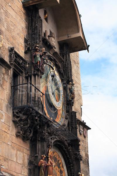 Praga astronômico relógio famoso prefeitura Foto stock © cosma