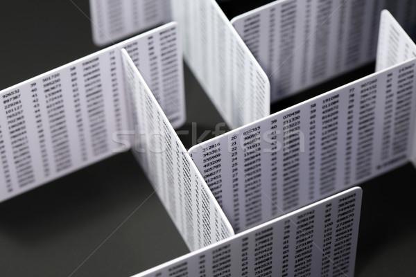 Pénzügyi labirintus üzlet műanyag ipar pénzügy Stock fotó © cosma
