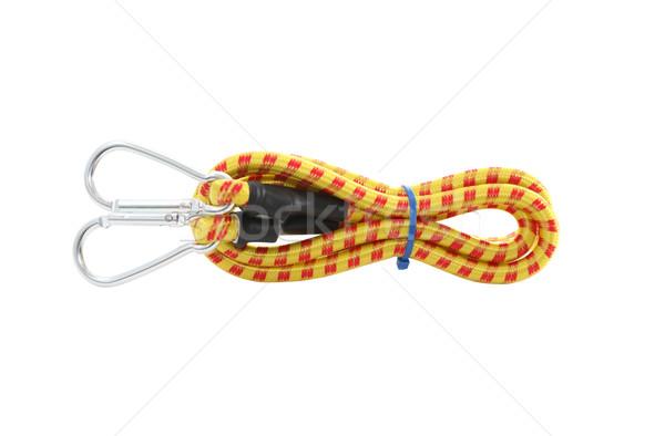 Rugalmas kötél fehér új izolált vágási körvonal Stock fotó © cosma