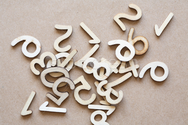 Wooden Digits Set Stock photo © cosma