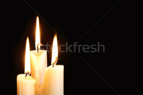 Candles On Black Stock photo © cosma
