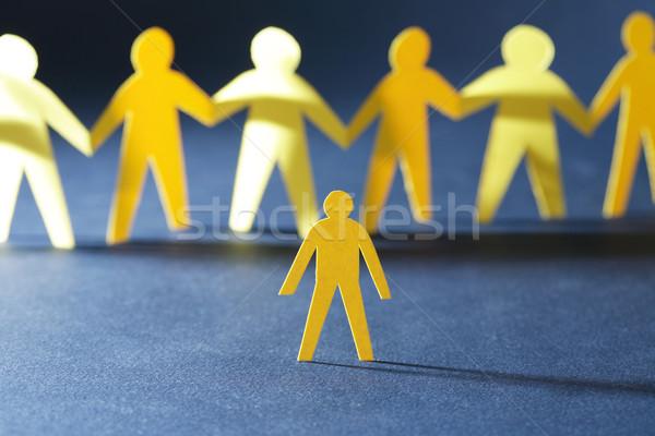улице ограбление желтый бумаги человека толпа Сток-фото © cosma