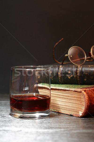 Whiskey And Books Stock photo © cosma