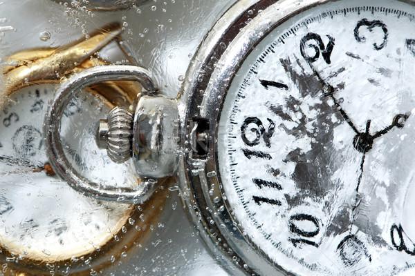 Сток-фото: заморожены · время · воды · фон