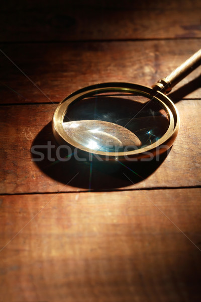 Magnifying Glass On Wood Stock photo © cosma
