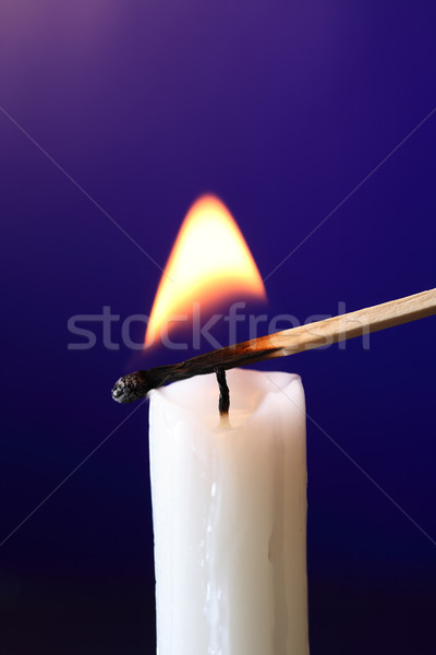 Candle Inflamed With Match Stock photo © cosma