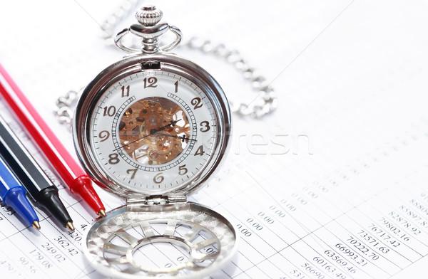 óra tollak üzlet közelkép három színes Stock fotó © cosma