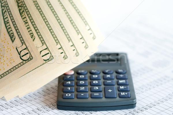 Finanziaria contabilità primo piano dieci dollaro banca Foto d'archivio © cosma