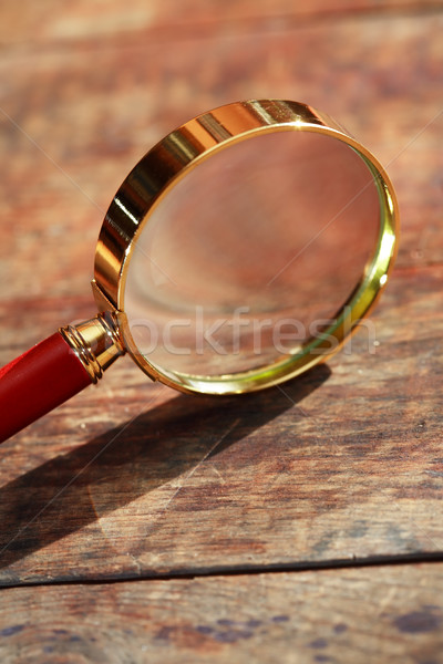 Magnifying Glass On Wood Stock photo © cosma