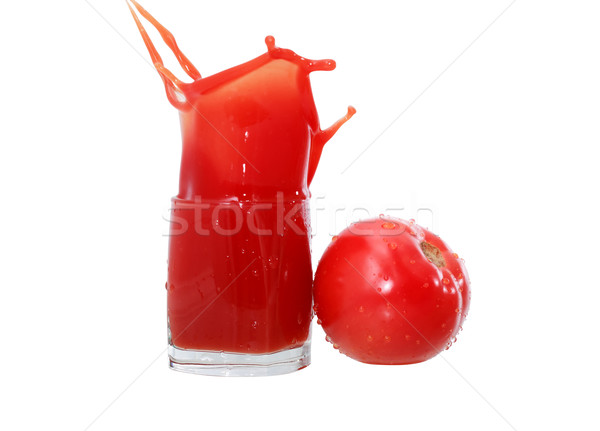 Tomato Juice On White Stock photo © cosma