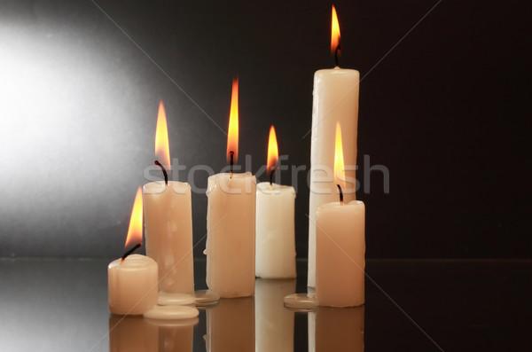 Candles On Dark Stock photo © cosma
