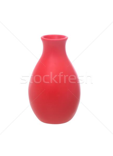 Piros kerámia váza szép fehér izolált Stock fotó © cosma