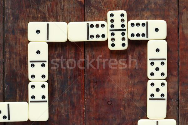 Dominó juego madera juego primer plano agradable Foto stock © cosma