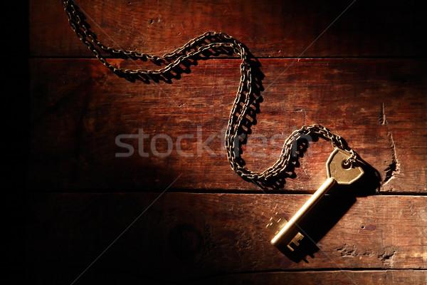 キー 木材 ドアの鍵 チェーン 古い 木製 ストックフォト © cosma