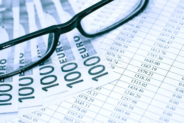 Okulary ceny finansowych papieru cyfry Zdjęcia stock © cosma