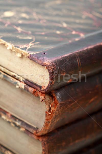 öreg könyvek közelkép extrém boglya kevés Stock fotó © cosma