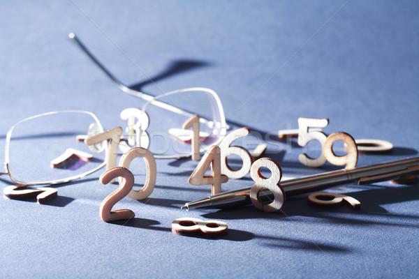 Dígitos teneduría de libros símbolo establecer pluma Foto stock © cosma