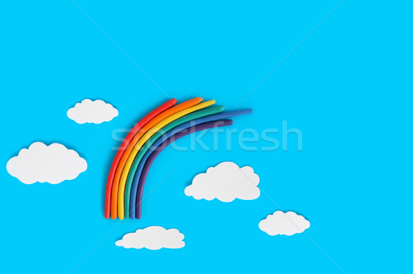 Plasticine Rainbow Stock photo © cosma