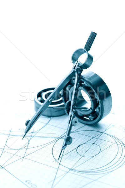 Drawing Instrument And Ball Bearings Stock photo © cosma