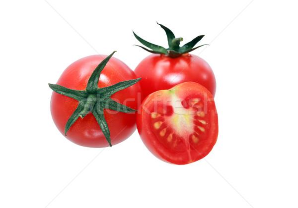 Kiraz domates beyaz yalıtılmış arka plan pazar Stok fotoğraf © cosma