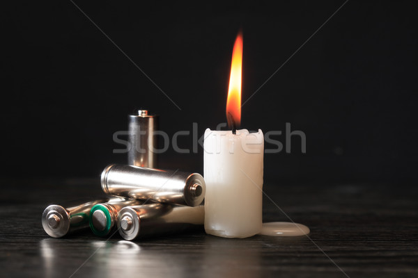 Battery And Candle Stock photo © cosma
