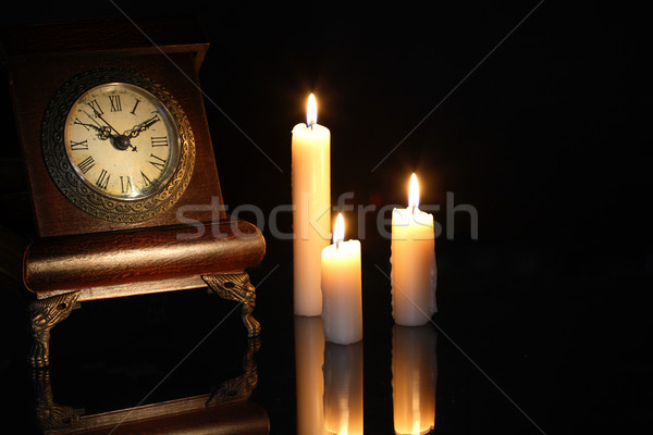 Clock And Candles Stock photo © cosma