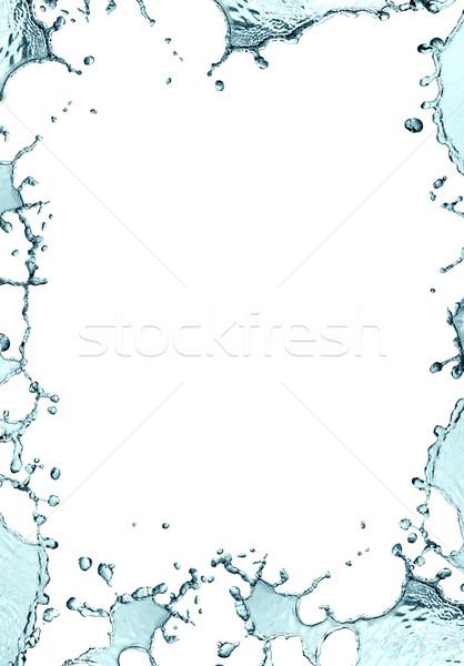 Víz keret képkeret csobbanás absztrakt tenger Stock fotó © cosma