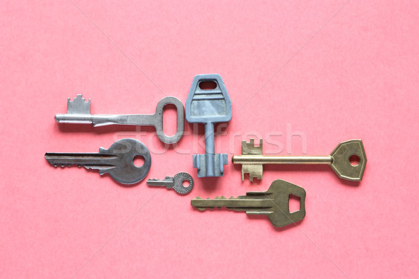 Keys On Pink Paper Stock photo © cosma