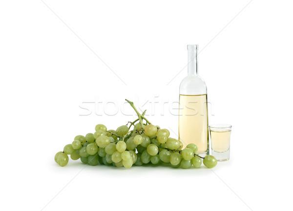 İtalyan üzüm votka açmak şişe cam Stok fotoğraf © cosma