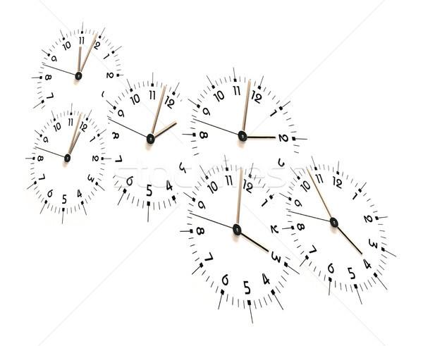 Zaman az saat yüzler on bir dört Stok fotoğraf © cosma