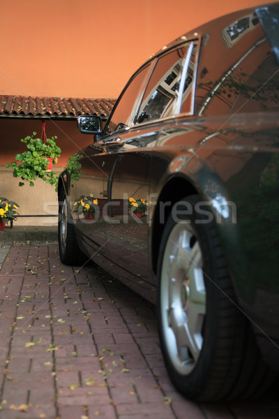 Linousine Parking In Courtyard Stock photo © cosma