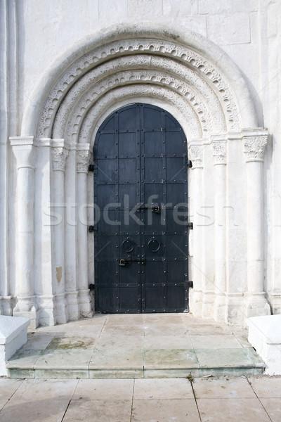 Oude kerk entree oude russisch boog Stockfoto © cosma