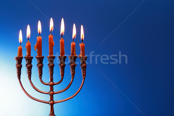 Traditional Jewish Menorah Stock photo © cosma