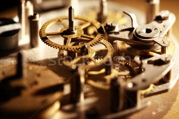 古い クロック メカニズム 機械 歯車 接続 ストックフォト © cosma