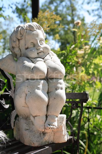 Ange sculpture pierre été nature Photo stock © cosma