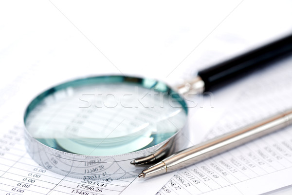 Magnifying Glass On Digits Stock photo © cosma