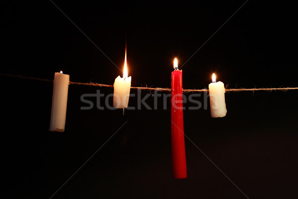 Candles On Rope Stock photo © cosma