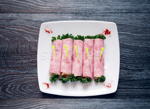 Meat Appetizer On Plate Stock photo © cosma